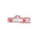 1959 1960 Chevrolet El Camino Red by Frank Schuster