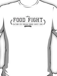 Food Fight - Retro Black Dirty T-Shirt