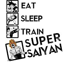 Eat Sleep Train go Super Saiyan Photographic Print