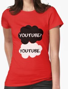Youtube - TFIOS (red) Womens Fitted T-Shirt