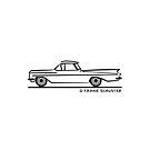 1959 1960 Chevrolet El Camino Blk by Frank Schuster