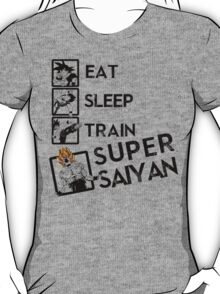 Eat Sleep Train go Super Saiyan T-Shirt