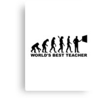 World's best teacher Evolution Canvas Print
