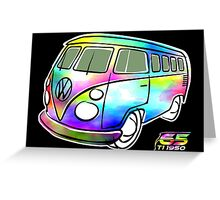 Psychedelic VW bus Greeting Card