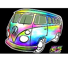 Psychedelic VW bus Photographic Print