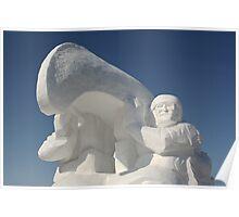 Snow Sculpture Poster