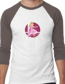 Smash Bros: Princess Peach Men's Baseball ¾ T-Shirt