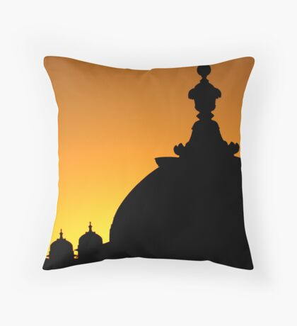 Domes Greeting The Sunrise Throw Pillow