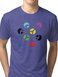 Gestalt Continuity Cube Coloured Tri-blend T-Shirt