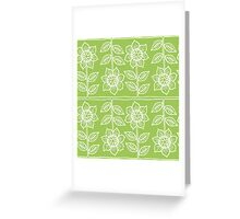 Pattern with sunflowers Greeting Card