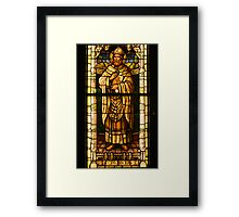 St. Patrick in Stained Glass Framed Print