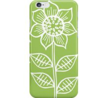 Pattern with sunflowers iPhone Case/Skin