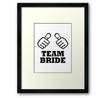 Team bride bachelorette party Framed Print