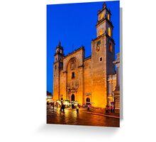 Yucatan Nights - Mérida Cathedral Greeting Card