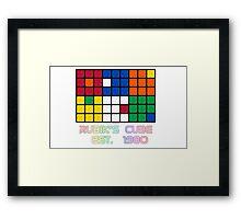 Rubik's Cube Est 1980 Framed Print
