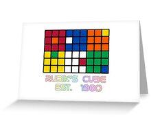 Rubik's Cube Est 1980 Greeting Card