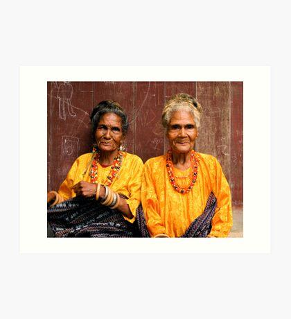 Welcoming Village Elders Art Print