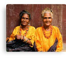 Welcoming Village Elders Canvas Print