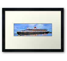 City Of Light - The Queen Mary 2  Framed Print