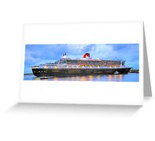 City Of Light - The Queen Mary 2  Greeting Card