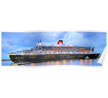 City Of Light - The Queen Mary 2  Poster