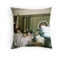 Ali-Frazier Courtesy Call on Philippine President Marcos. Throw Pillow