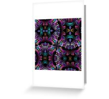Colourful Spinning patterns Greeting Card