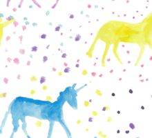 Happy Sparkly Unicorn Happiness pastel colours Sticker