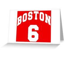 Jack Parker - BU #6 - red jersey Greeting Card