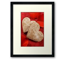 I love you - always Framed Print