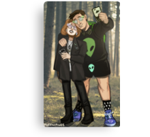 X Files UFO Party Canvas Print