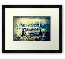 Tree Surfers Framed Print