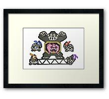 Donkey Krang Framed Print