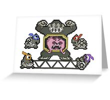 Donkey Krang Greeting Card