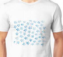 Vintage blue flowers hand painted watercolour Unisex T-Shirt