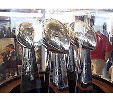 Cowboys Superbowl Trophies Photographic Print