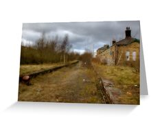 Trains gone by........ Greeting Card