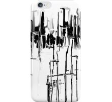 Black and White City iPhone Case/Skin