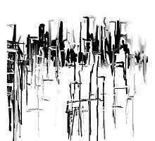 Black and White City Photographic Print