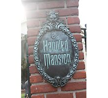 Haunted mansion Photographic Print