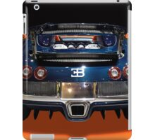 Bugatti luxury sport car back view iPad Case/Skin