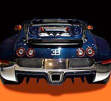 Bugatti luxury sport car back view by Radoslav Nedelchev