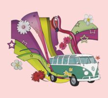 60's Van with Foulli and Gerbera in White Kids Clothes