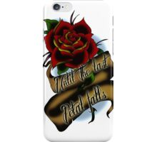 Beauty and the Beast Rose Tattoo iPhone Case/Skin