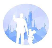 Diamond Disneyland Photographic Print