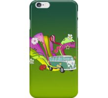 60's Van with Foulli and Gerbera iPhone Case/Skin