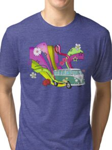 60's Van with Foulli and Gerbera Tri-blend T-Shirt