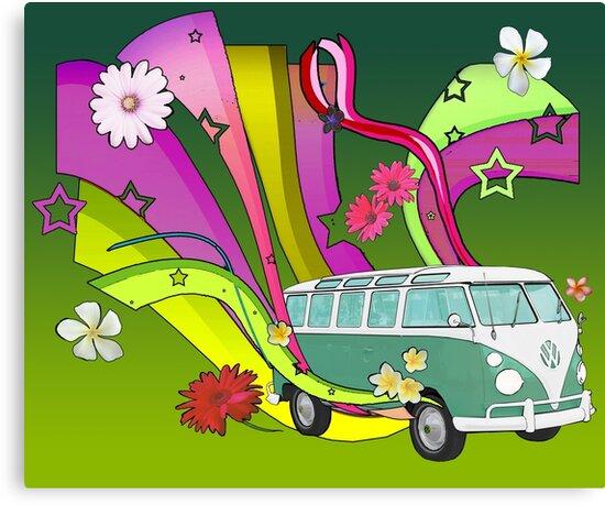 60's Van with Foulli and Gerbera by Barbora  Urbankova