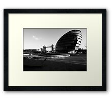 mayor's office and tower bridge Framed Print