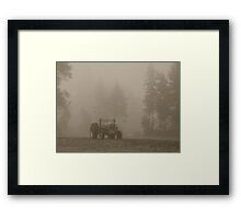 Old Tractor BW Framed Print